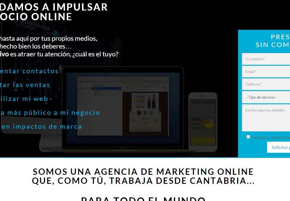 Marketing Online en Cantabria, microsite