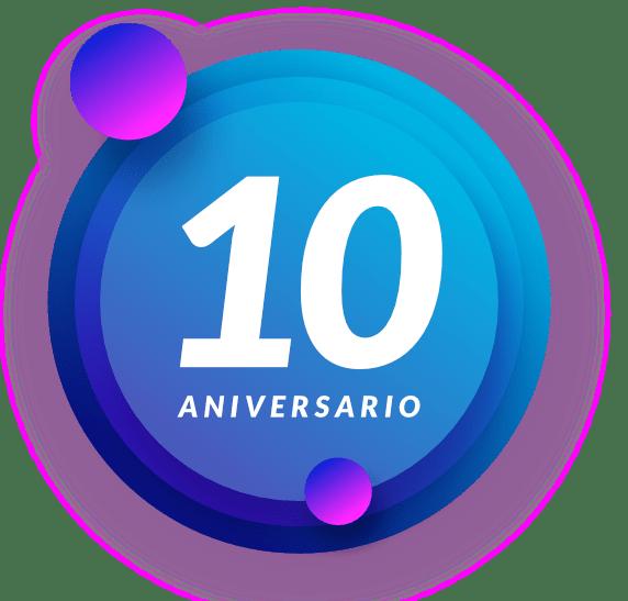 Burbuja 10 aniversario Netkia gris